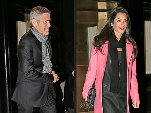 Clooney and his boo, Amal. Photo courtesy of People magazine.