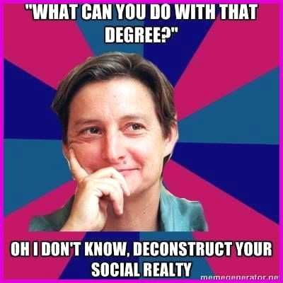 meme studies degree Inspirational Top 9 ideas about English Major Stereotype Memes on