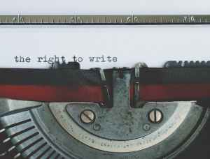 close up view of an old typewriter